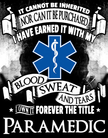 """Forever the Title EMT"" Vinyl Decal Sticker (5"" tall) - topnotchloot  - 2"