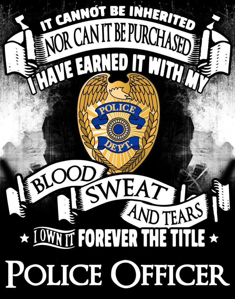 """Forever the Title Police Officer"" Vinyl Decal Sticker (5"" tall) - topnotchloot  - 1"