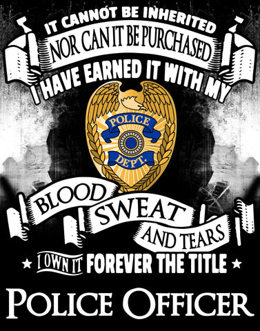 """Forever the Title Police Officer"" Vinyl Decal Sticker (5"" tall)"