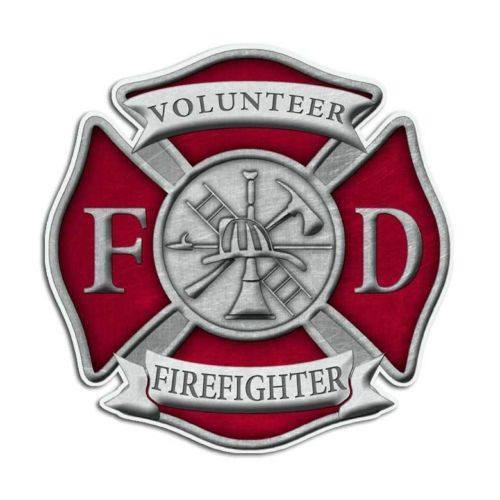 Volunteer Firefighter Maltese Cross Sticker - topnotchloot  - 1