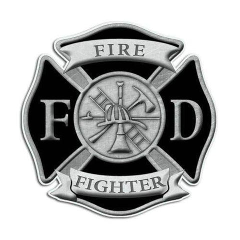 Volunteer Firefighter Maltese Cross Sticker - topnotchloot  - 2