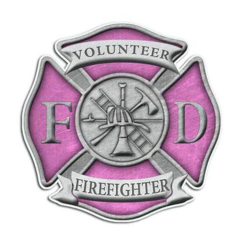 Volunteer Firefighter Maltese Cross Sticker - topnotchloot  - 3