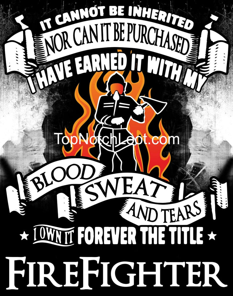 """Forever the Title Firefighter"" Vinyl Decal Sticker (5"" tall) - topnotchloot  - 1"