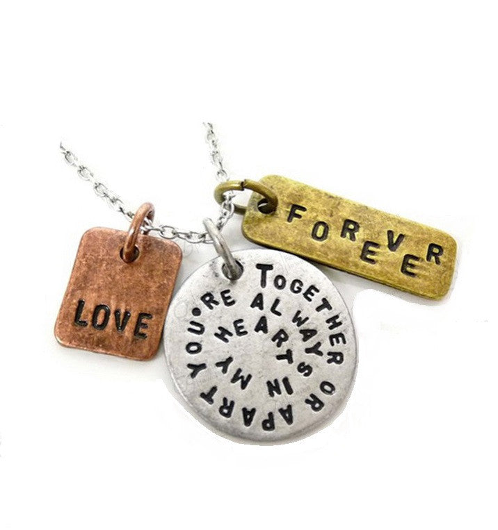 Together or Apart, Forever, Love Necklace - topnotchloot