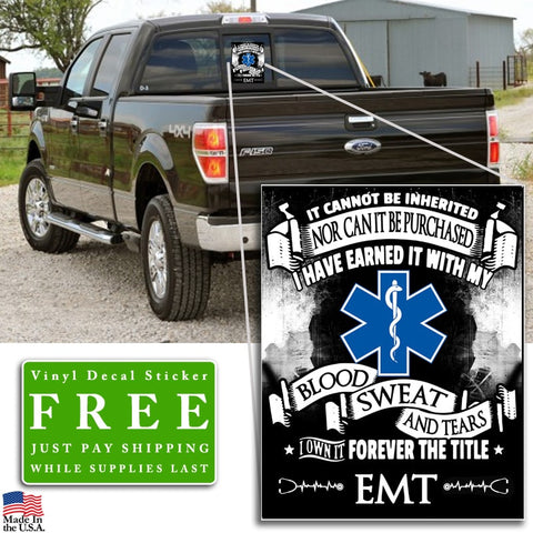 """Forever the Title EMT"" Vinyl Decal Sticker (5"" tall) - topnotchloot  - 3"