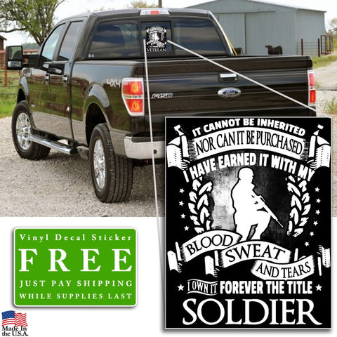 """Forever the Title Soldier"" Vinyl Decal Sticker (5"" tall) - topnotchloot  - 2"