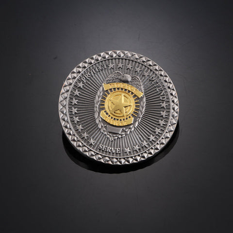 Protect Defend Serve Honorary Police Coin - topnotchloot  - 1