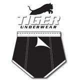 Tiger Underwear Double Seat All Black Brief (back side)