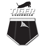 Tiger Underwear Four Panel Trainer All Black Brief (Back Side)