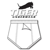 Tiger Underwear Double Seat All White with Black Dash (BackSide)