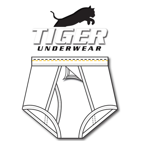 Mens Gold and Black Dash Training Brief - Tiger Underwear