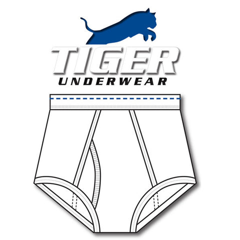 Men's Blue Dash Double Seat Brief - Tiger Underwear