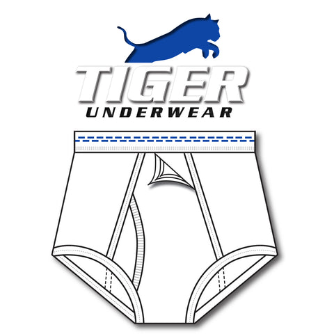 Men's Double Blue Dash Training Brief - Tiger Underwear