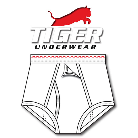 Boys Double Red Dash Training Brief - Tiger Underwear