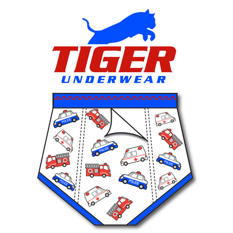 Boys Emergency Double Seat Brief - Tiger Underwear