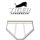 Men's Gold and Black Solid Line Mid-Rise Briefs
