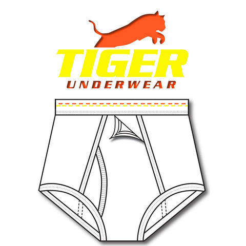 Mens Orange and Yellow Dash Training Brief - Tiger Underwear