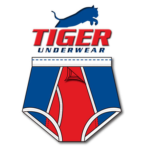 Tiger Underwear Training Brief (Red White and Blue) 4 panel front side