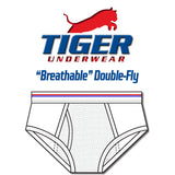 "Men's Red and Blue Solid Line ""Breathable"" Mid-Rise Briefs"