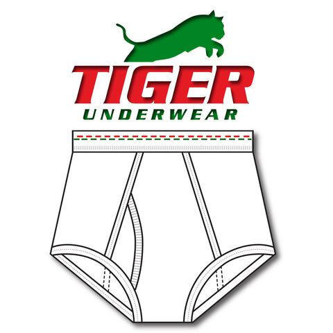 Boys Red and Green Dash Double Seat Brief - Tiger Underwear