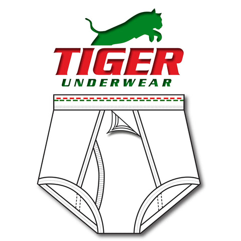 Mens Red and Green Dash Training Brief - Tiger Underwear