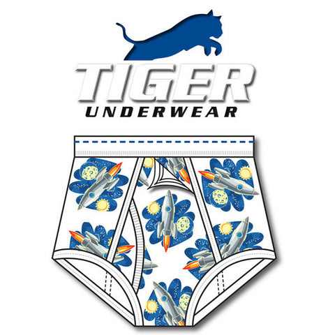 Men's Rocket Print Training Brief - Tiger Underwear