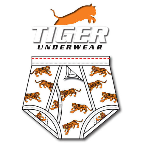 Boys Tiger Print Training Brief - Tiger Underwear