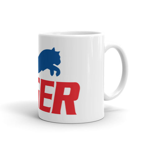 Tiger Blue and Red Mug