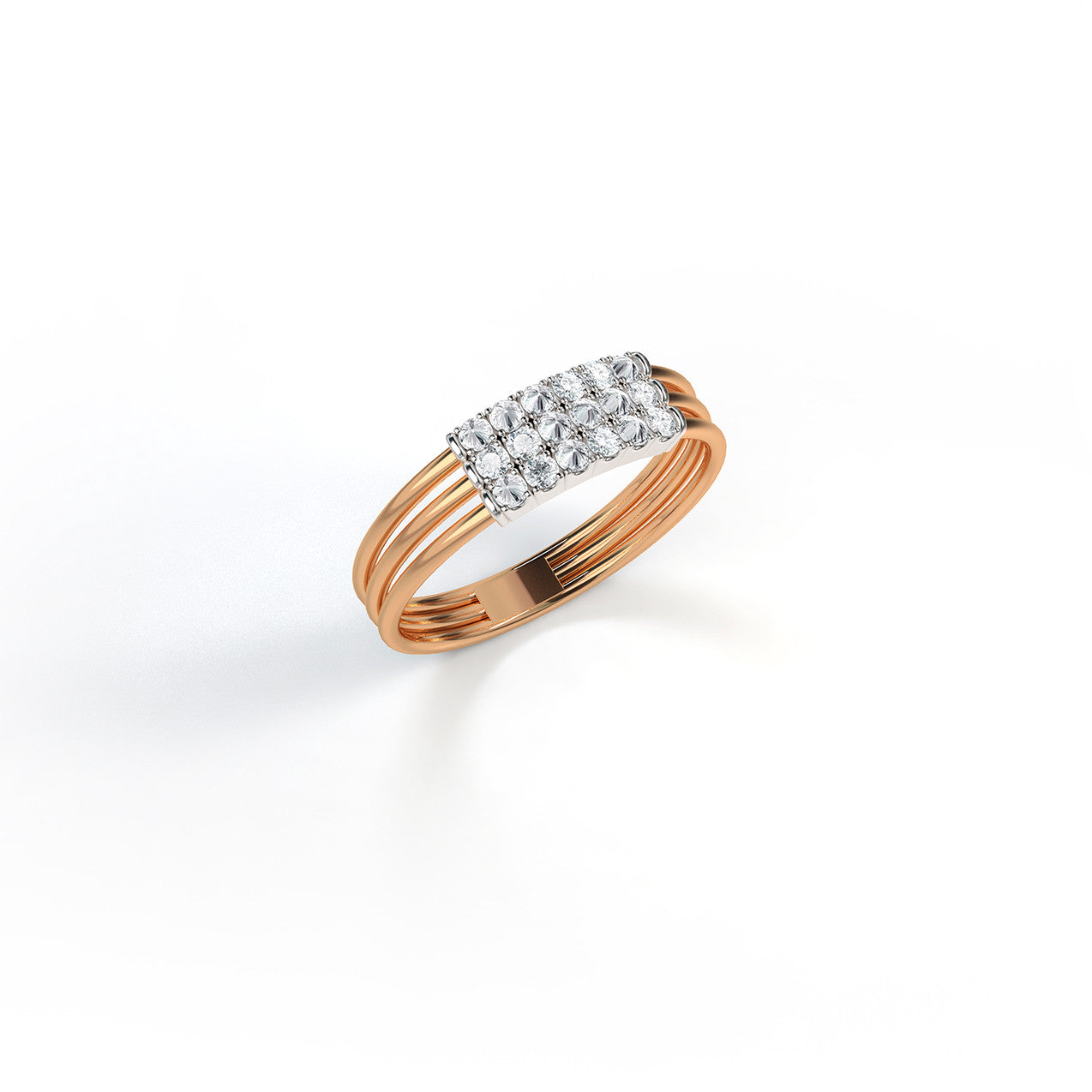 Feel The Love Diamond Braille Ring 3 Characters