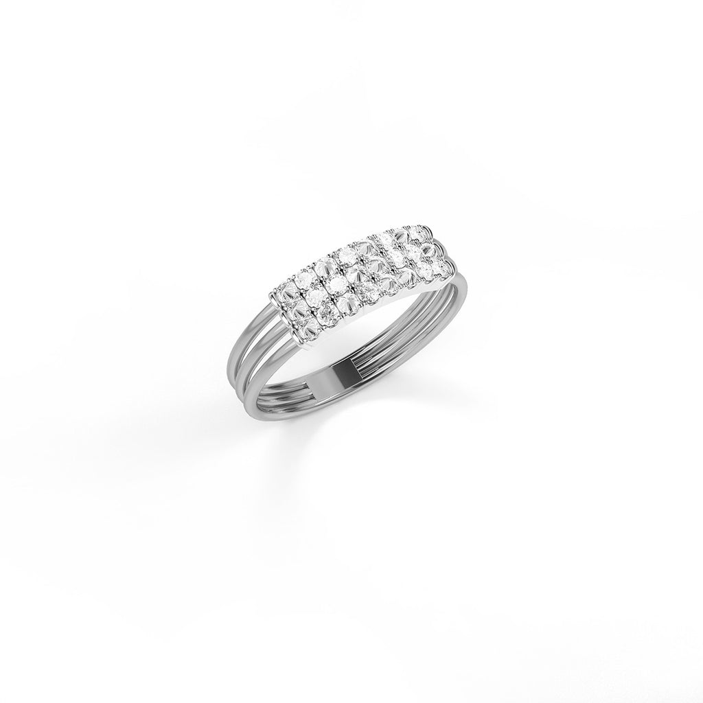 Feel The Love Diamond Braille Ring 4 Characters