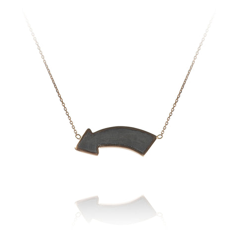 'Fun This Way' Shadow Arrow Necklace