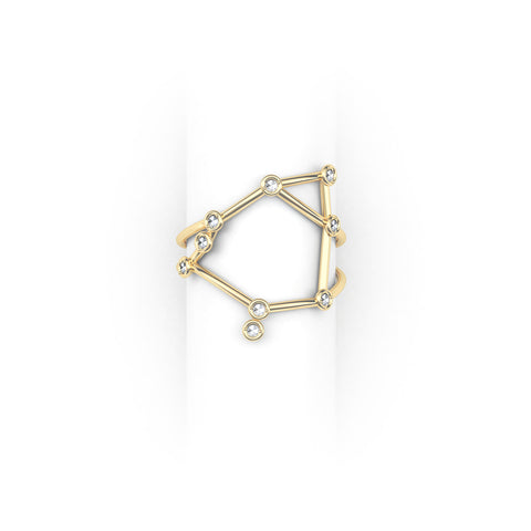Libra Constellation Ring