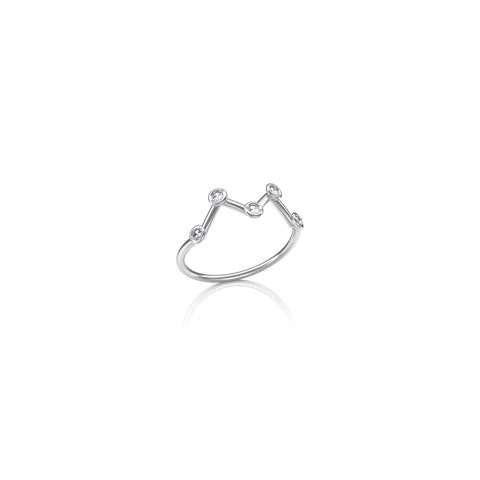 Cassiopeia Constellation Midi Ring
