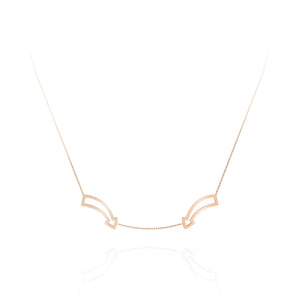 'Fun This Way' Double Arrow Edge Necklace