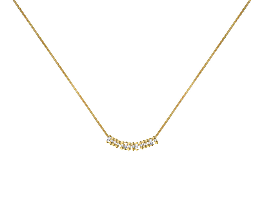 Dot Dash Diamond Morse Code Necklace - 'BRAVE'