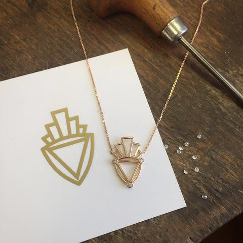 Deco Logo Necklace