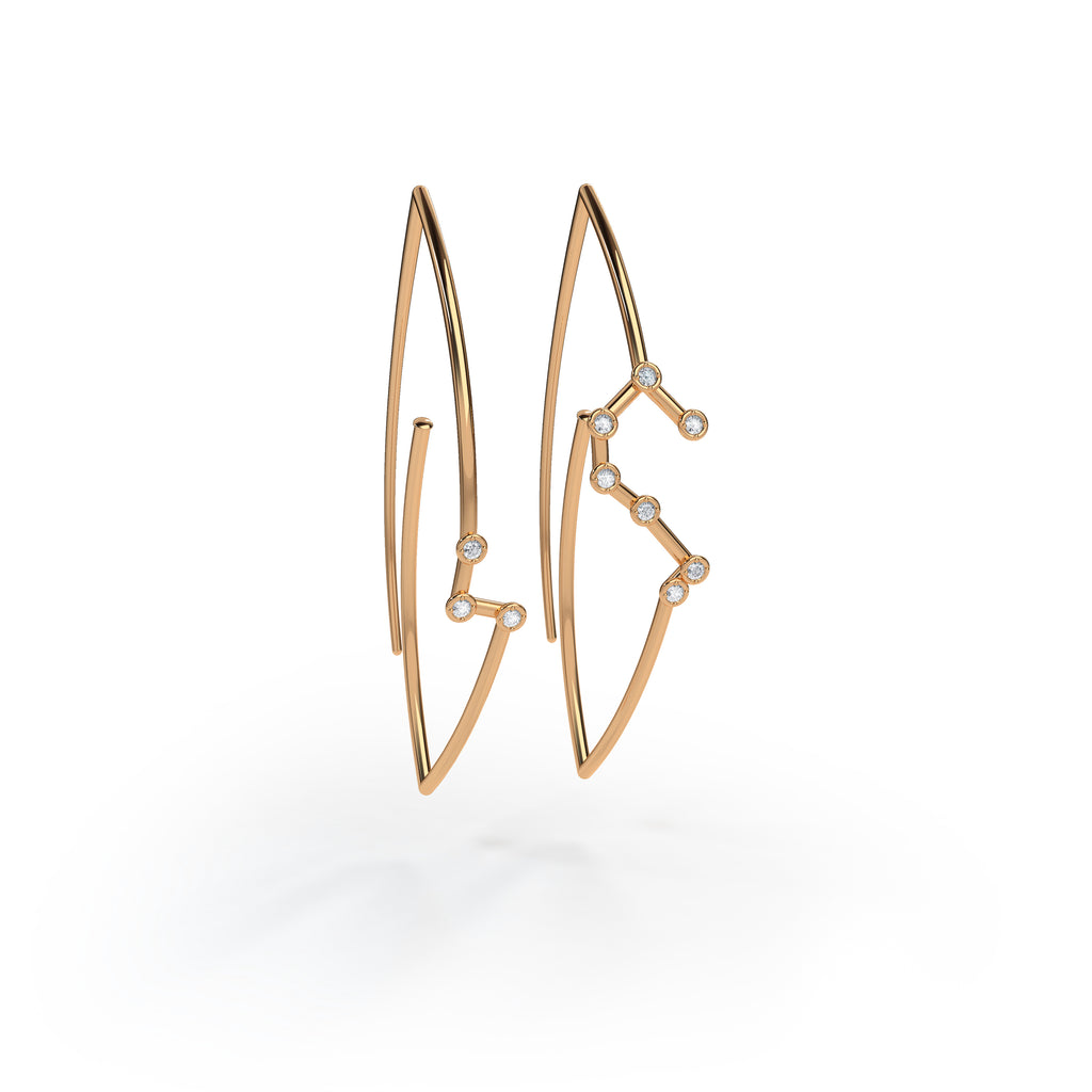 Jessie V E Aries Constellation Hoop Earrings T4Mehey2