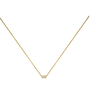 Dot Dash Diamond Morse Code Necklace - Letter L