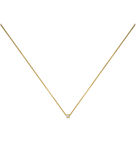 Dot Dash Diamond Morse Code Necklace - Letter N