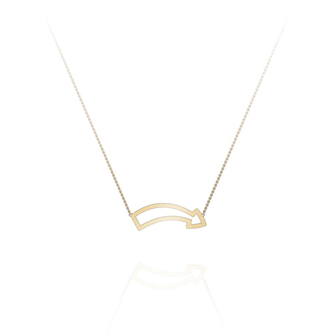 'Fun This Way' Arrow Edge Necklace