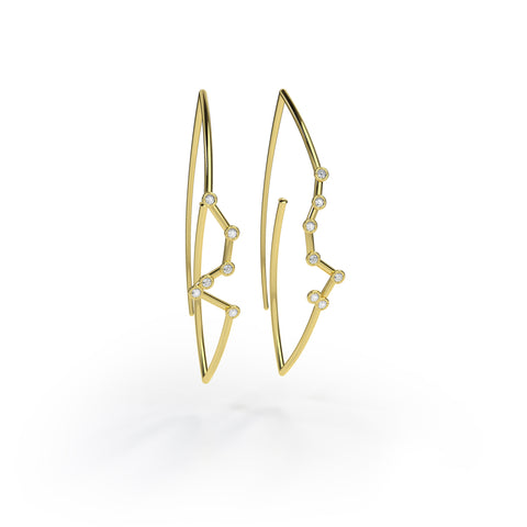 Virgo Constellation Earrings