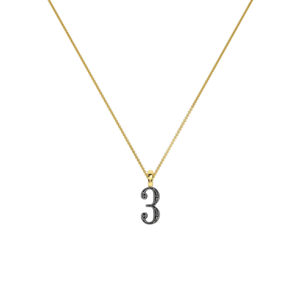 Lucky Number 3 Necklace
