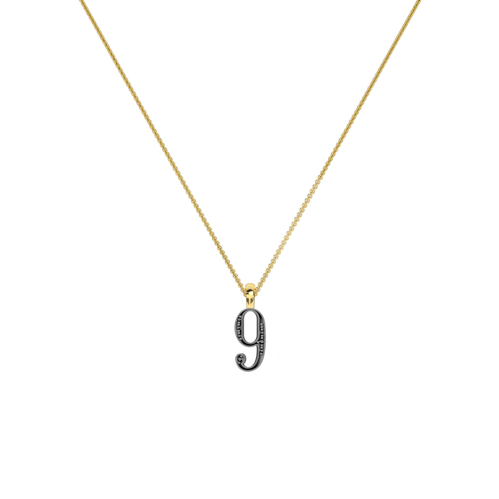 Lucky Number 9 Necklace