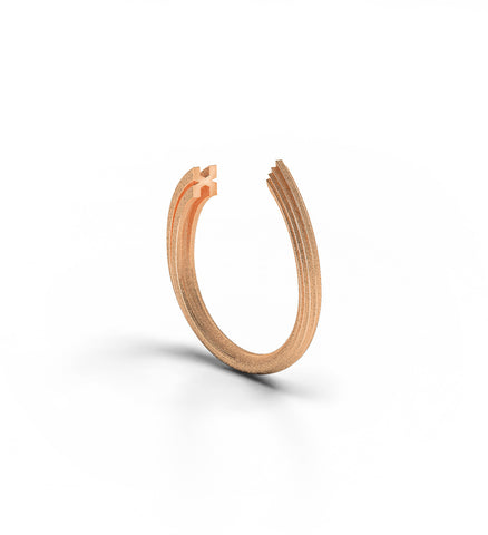 Rock Ring 9k Rose Gold