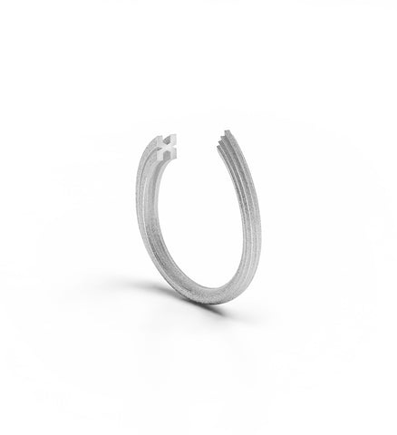 Rock Ring 9kt White Gold