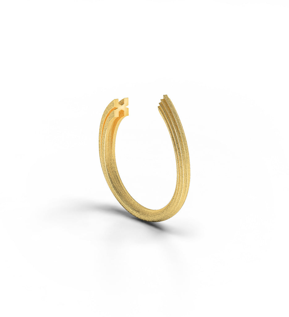 Rock Ring 9k Yellow Gold
