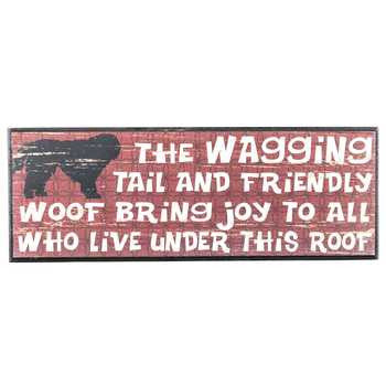 Red Wagging Tail Wall Plaque