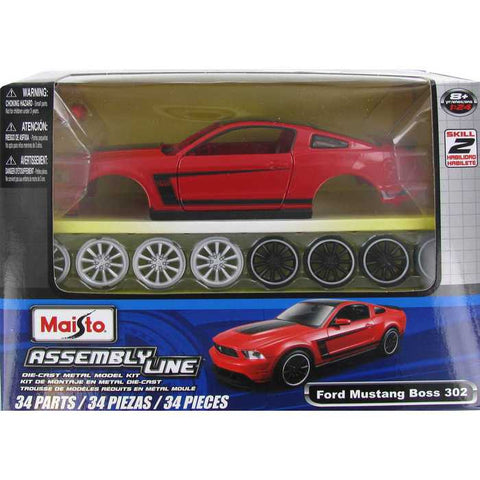 Ford Mustang Boss 302 Die-Cast Metal Model Kit