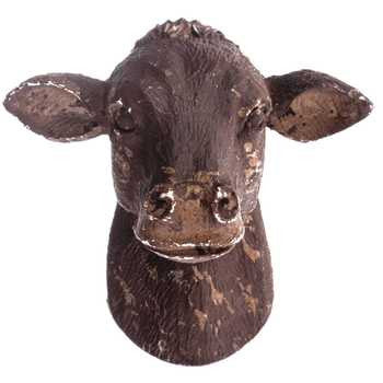 Brown Cow Head Knob