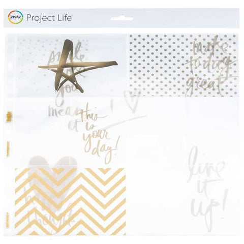 "12"" x 12"" Gold Foil Project Life Pocket Pages"